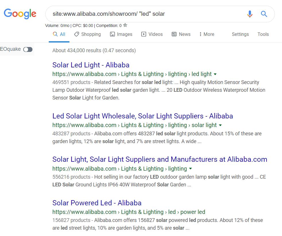 谷歌高级搜索site后的结果页面