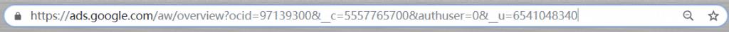 英文版本的关键词规划师URL